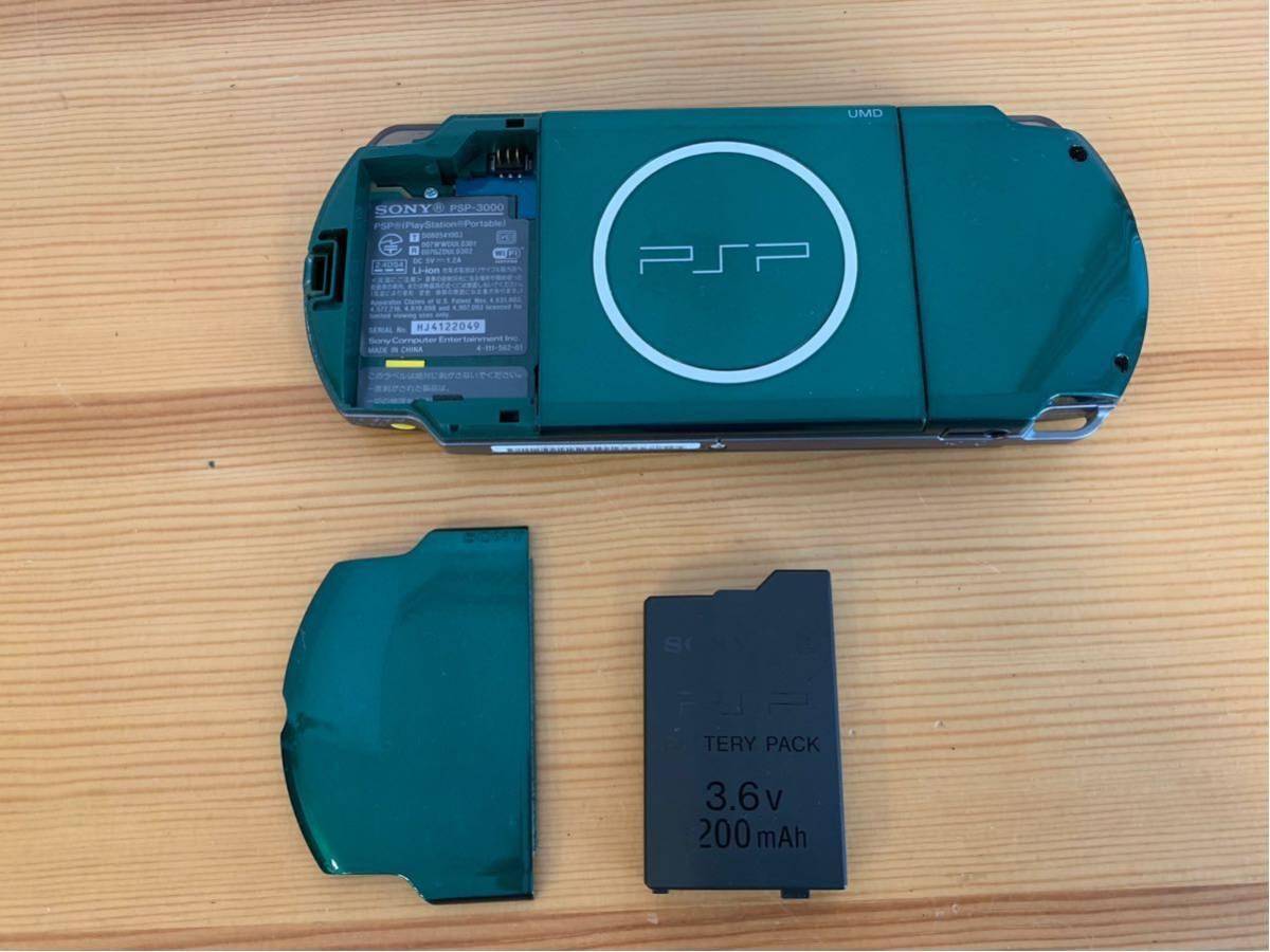 SONY/PSP 3000 本体/グリーン/通電確認 初期化済み/ソニー_画像5