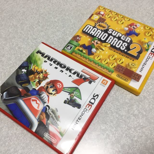 ◇送料無料◇即決◇nintendo 3DS new スーパーマリオブラザーズ2+マリオカート7◇任天堂 ニンテンドー newsupermariobros