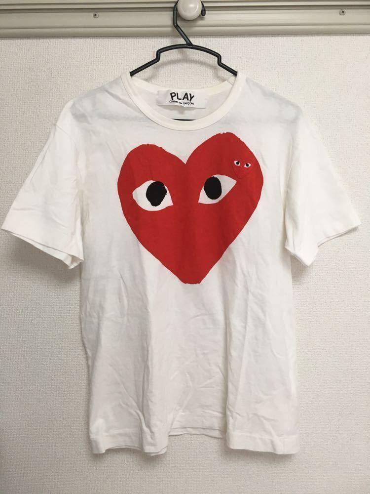 【1円 スタート】PLAY comme des garcons プレイ コムデギャルソン Tシャツ Mサイズ 美品