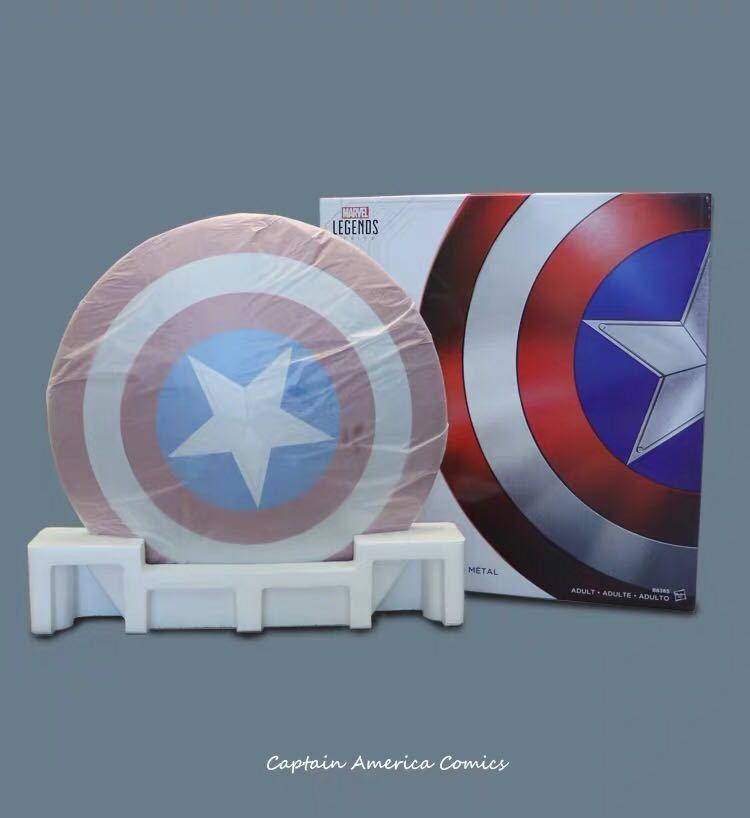 「新品未開封」マーベル アベンジャーズ キャプテンアメリカ 1:1スケール 盾 シールド 75周年 Hasbro(ハズブロ) アルミニウム合金製