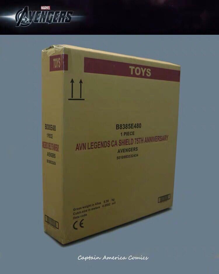 「新品未開封」マーベル アベンジャーズ キャプテンアメリカ 1:1スケール 盾 シールド 75周年 Hasbro(ハズブロ) アルミニウム合金製 _画像5