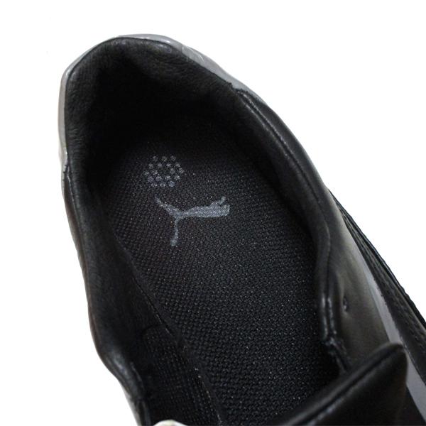 良好♪ プーマ ゴルフ PUMA GOLF 上質ブラック レザー シューズ 182267 保管袋付き ! スポーツ スパイク 靴_画像6