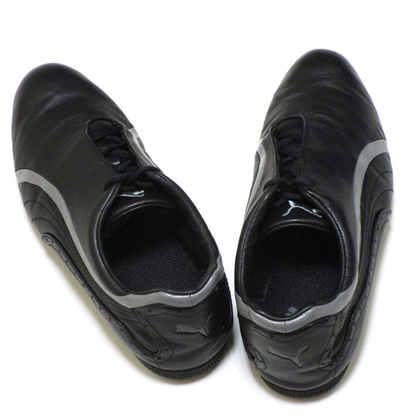 良好♪ プーマ ゴルフ PUMA GOLF 上質ブラック レザー シューズ 182267 保管袋付き ! スポーツ スパイク 靴_画像7
