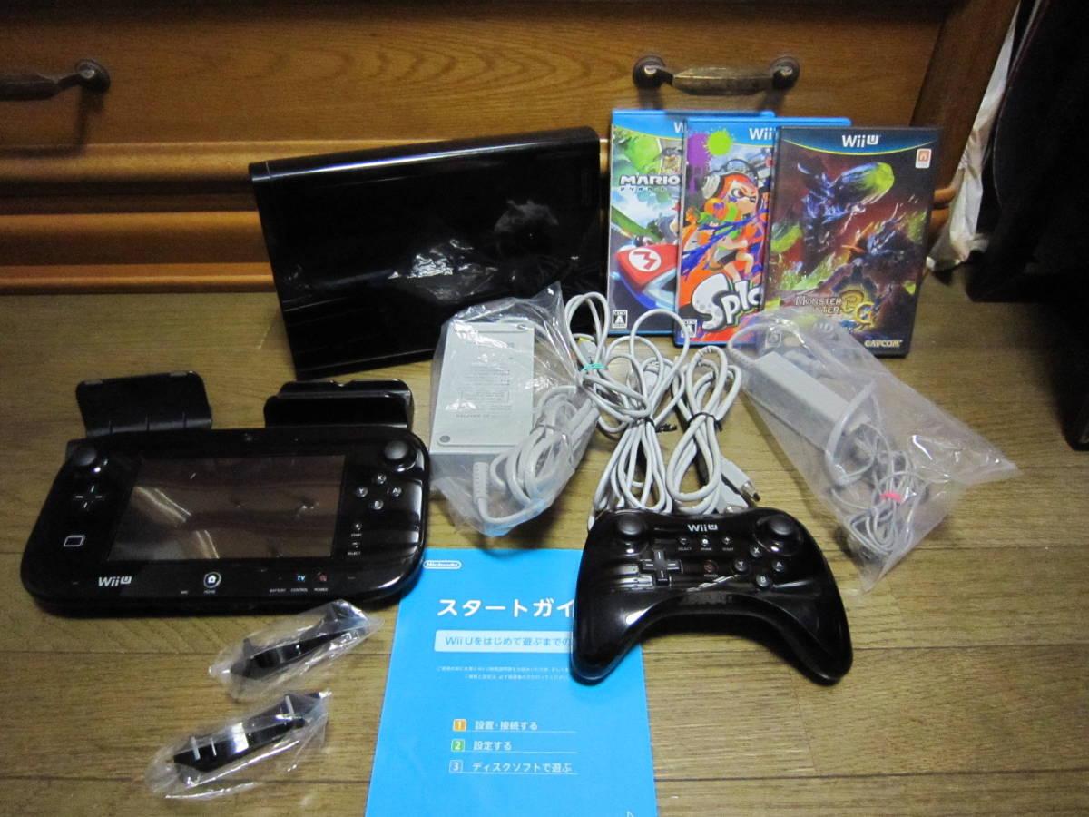 WiiU モンスターハンター3(トライ) G HD Ver. Wii Uプレミアムセット+ソフト2本
