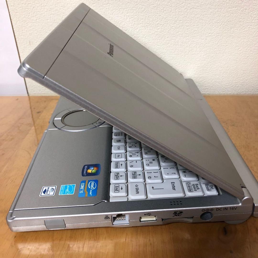 新品 SSD 240GB/Win10 搭載/Panasonic CF-SX1/第二世代Core i5 2.5GHz/Office 2016 搭載/メモリ4GB/12.1インチ/DVDスーパーマルチ/無線LAN_画像1