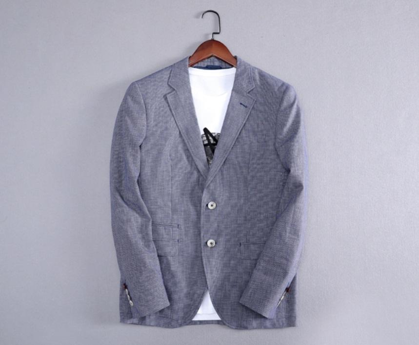 新入荷!夏*新品★リネン100% 高品質★ 着心地良い メンズ 紳士服 上着 ジャケット M