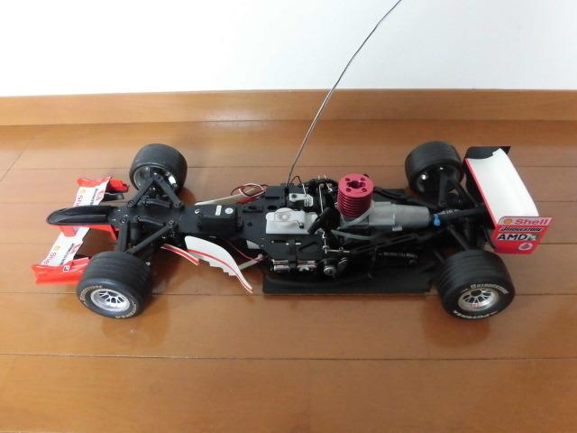 ☆★ ジャンク デアゴスティーニ 京商 1/8 フェラーリ F2004 エンジンカー シューマッハ