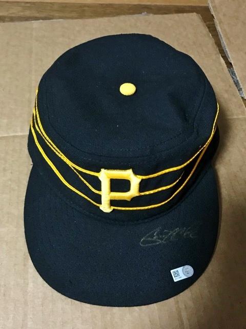 2016 MLB メジャーリーグ MLB公認証明付 直筆サイン 本物 ゲリット コール Cole ピッツバーグ パイレーツ ニューエラ キャップ ハット 帽子
