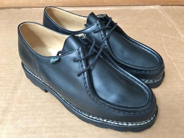 極美品 Paraboot パラブーツ ミカエル MICHAEL ブーツ フランス製 ノルウィージャン ノルベジェーゼ 革靴 レザーシューズ ビジネス 靴 黒