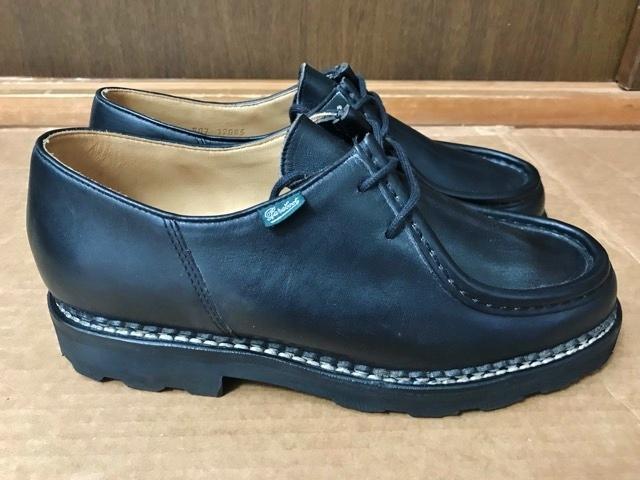 極美品 Paraboot パラブーツ ミカエル MICHAEL ブーツ フランス製 ノルウィージャン ノルベジェーゼ 革靴 レザーシューズ ビジネス 靴 黒_画像2