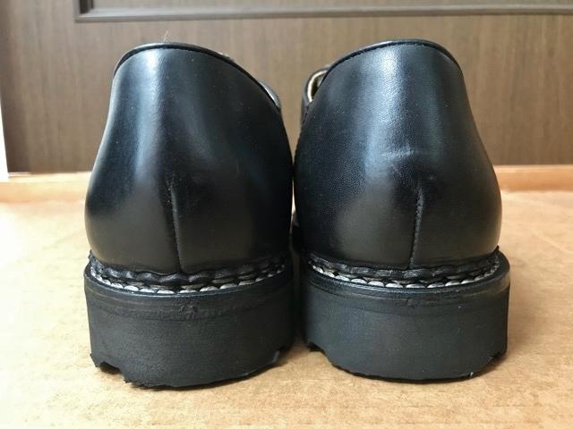 極美品 Paraboot パラブーツ ミカエル MICHAEL ブーツ フランス製 ノルウィージャン ノルベジェーゼ 革靴 レザーシューズ ビジネス 靴 黒_画像5