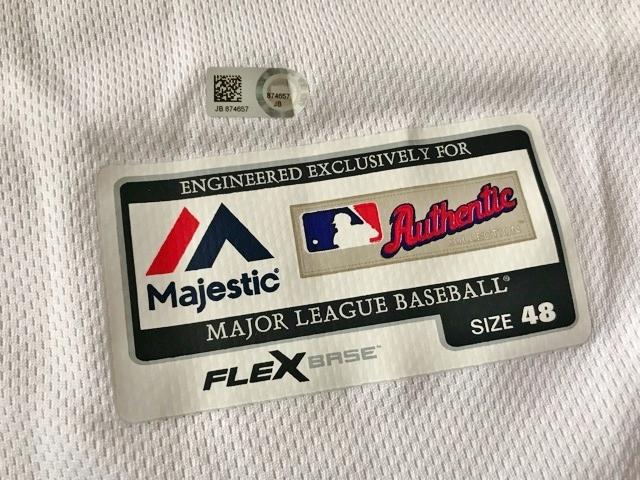 2017 MLB メジャーリーグ MLB公認証明付 実使用 本物 現 日本ハム ファイターズ ジョーニー バーベイト パイレーツ ユニフォーム プロ野球_画像6