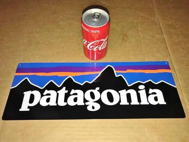 非売品 鉄製 Patagonia パタゴニア 販売促進 看板 ストア サイン 什器 備品 レア セールス スチール バナー not for sale pop 直営店 USA