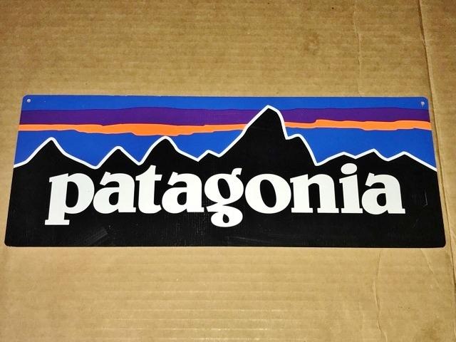 非売品 鉄製 Patagonia パタゴニア 販売促進 看板 ストア サイン 什器 備品 レア セールス スチール バナー not for sale pop 直営店 USA_画像3