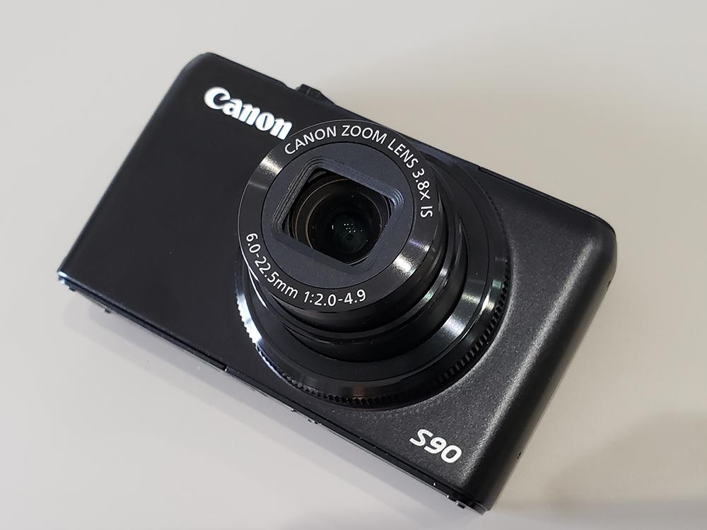 ★中古良品 Canon キヤノン Power Shot S90 黒◆動作確認済◆
