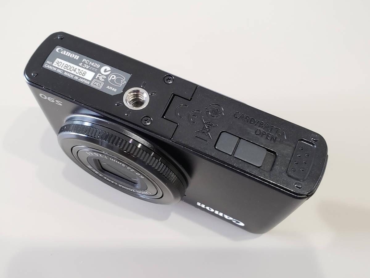 ★中古良品 Canon キヤノン Power Shot S90 黒◆動作確認済◆_画像3