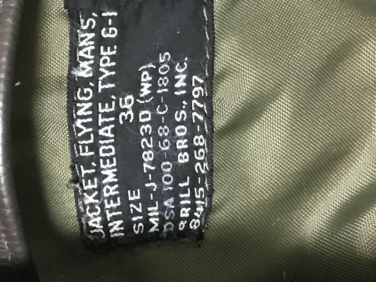 米軍衣料? 美品♪  G-1ジャケット サイズ36_画像2