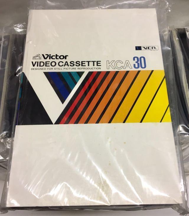 ビクター Victor Uマチック ビデオ カセット テープ KCA30 VCR 11本 恐らく未使用品ですがジャンク扱いです_画像2