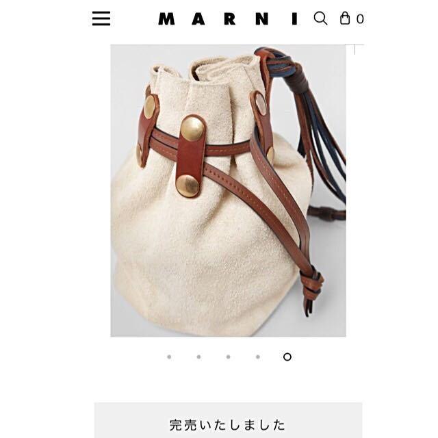 新品 マルニ MARNI スエード BINDLE クラッチ 巾着 バケツバッグ ジルサンダー マルジェラ セリーヌ ショルダーバッグ トートバッグ_画像3