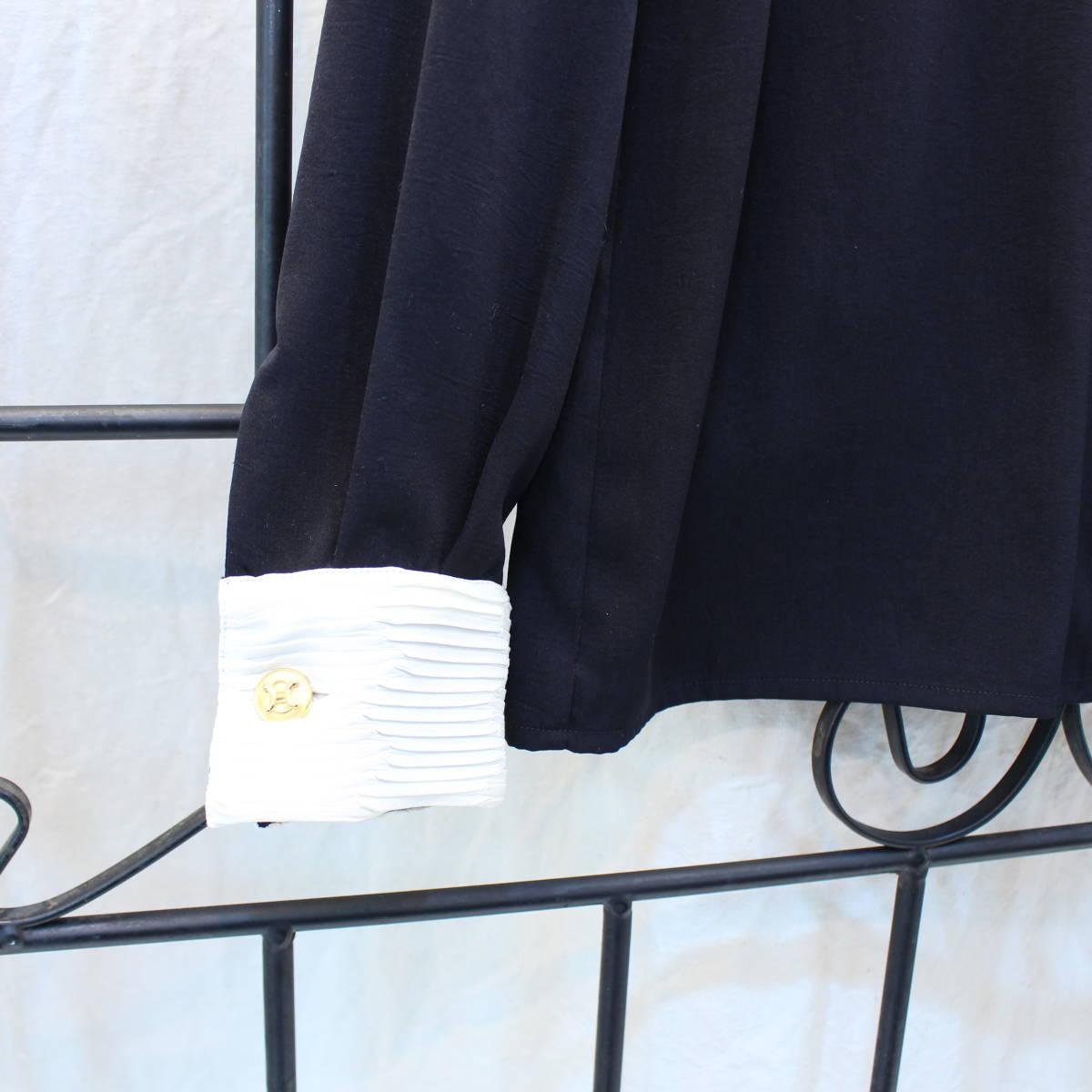 CELINE GOLD BUTTON LONG SLEEVE SHIRT MADE IN FRANCE/セリーヌ金ボタン長袖シャツ_画像3