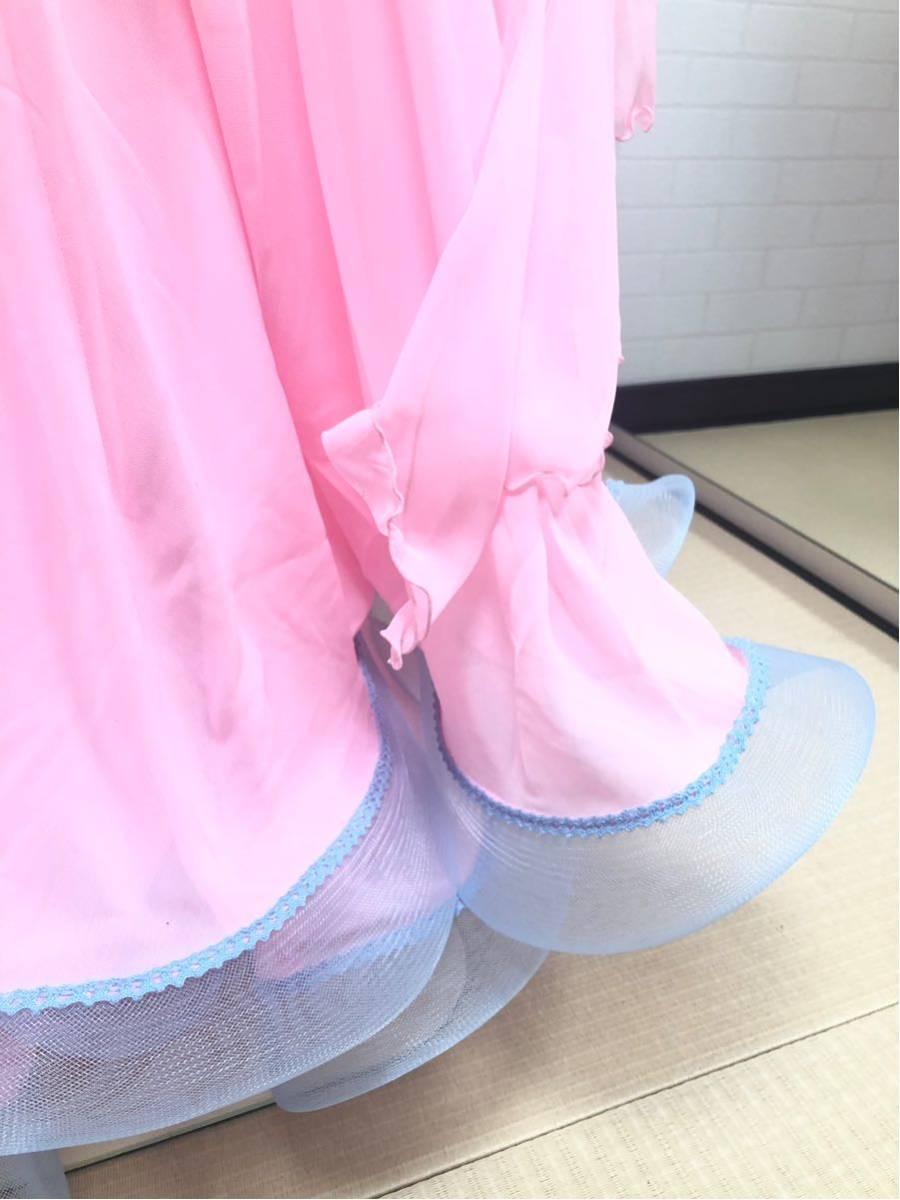 社交ダンス カラードレス M ピンク_画像5
