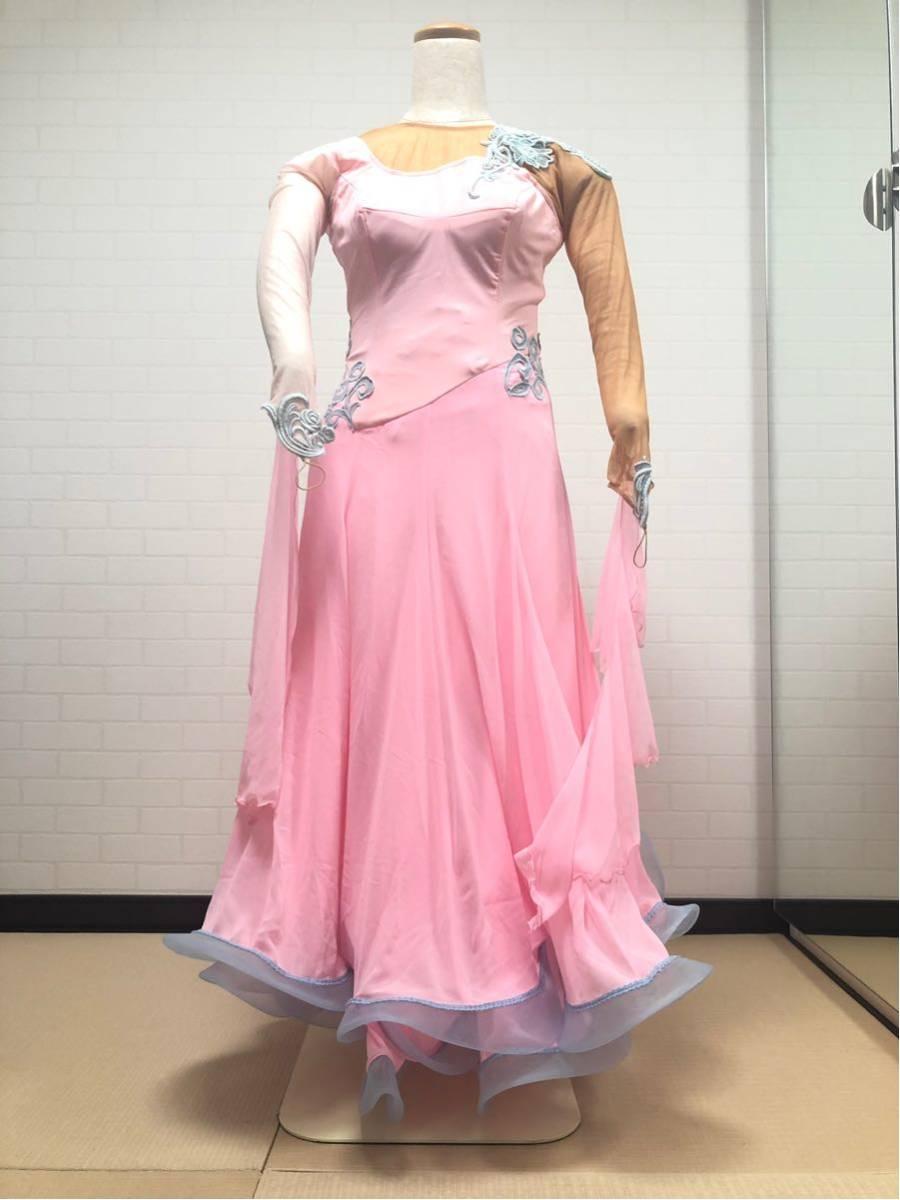 社交ダンス カラードレス M ピンク