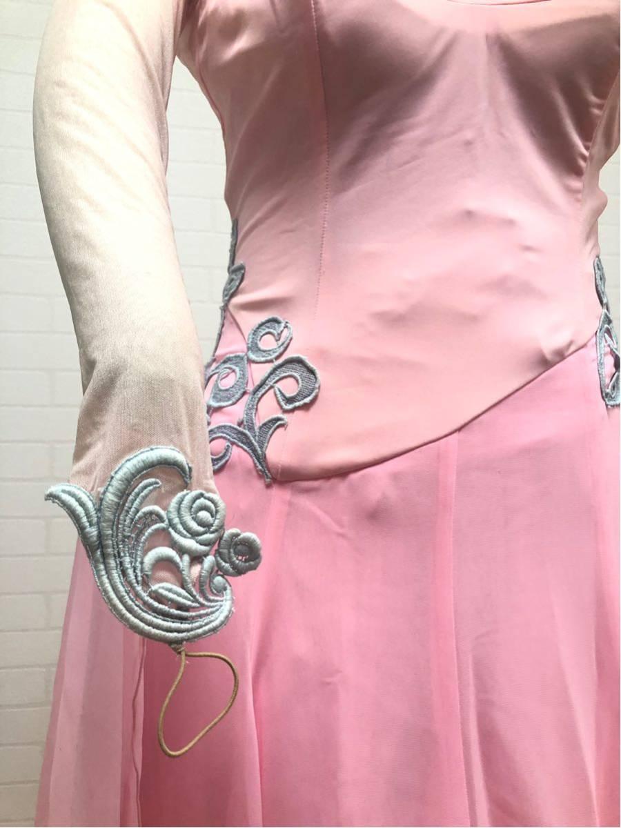 社交ダンス カラードレス M ピンク_画像4
