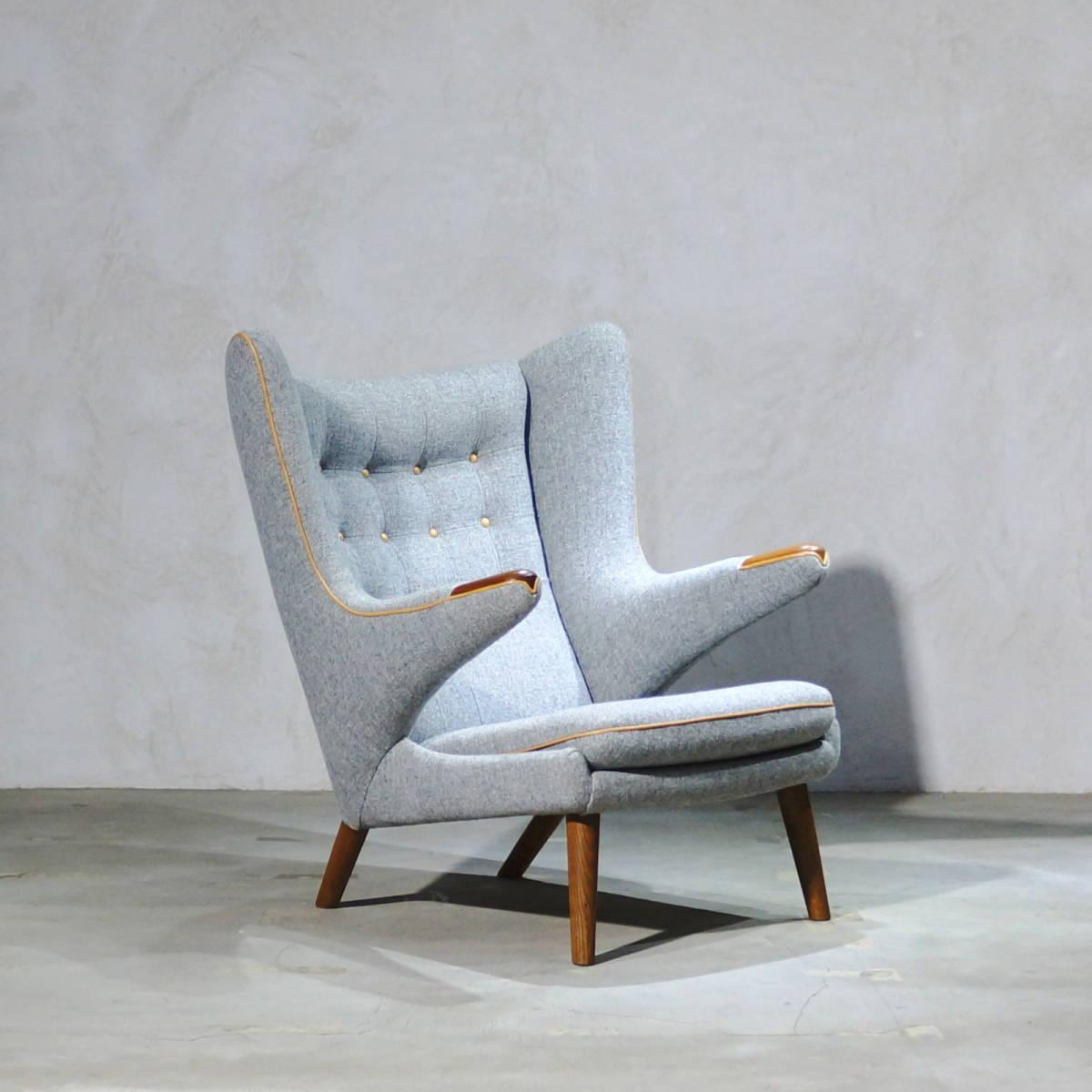 Hans J. Wegner ウェグナー AP-19 Bear Chair ベアチェア Teak & Oak チークオーク ※フィンユール モーエンセン_画像6