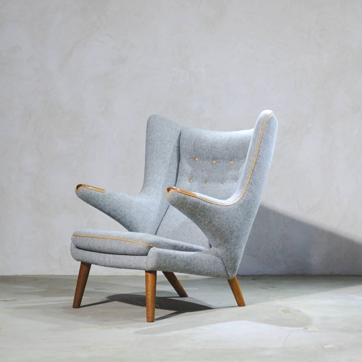 Hans J. Wegner ウェグナー AP-19 Bear Chair ベアチェア Teak & Oak チークオーク ※フィンユール モーエンセン_画像2