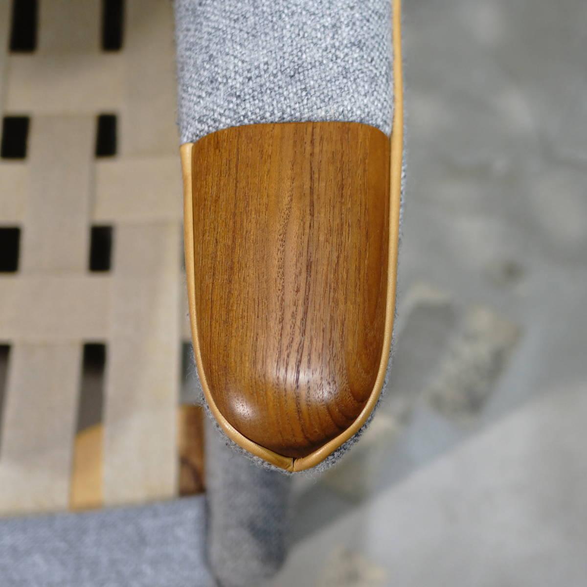 Hans J. Wegner ウェグナー AP-19 Bear Chair ベアチェア Teak & Oak チークオーク ※フィンユール モーエンセン_画像8