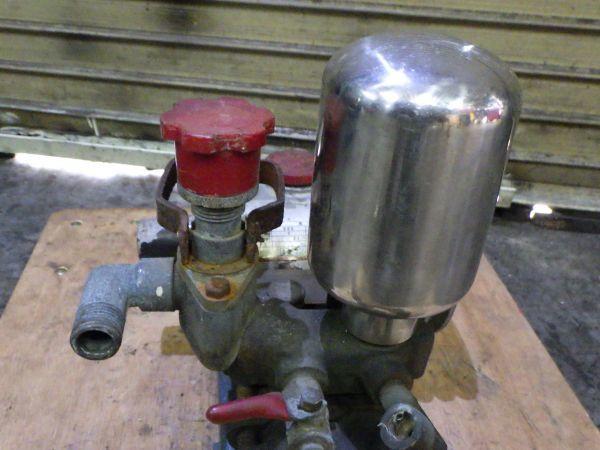 g268 共立 HP-15A 0.75kw 1馬力 水ポンプ プランジャー ポンプ本体 動墳 動力噴霧器 手回しのみ ジャンク 動作未確認 中古_画像5