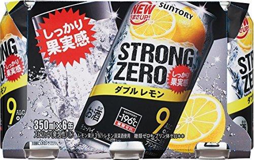 サントリーチューハイ -196℃ ストロングゼロ Wレモン 350ml×6本_画像2