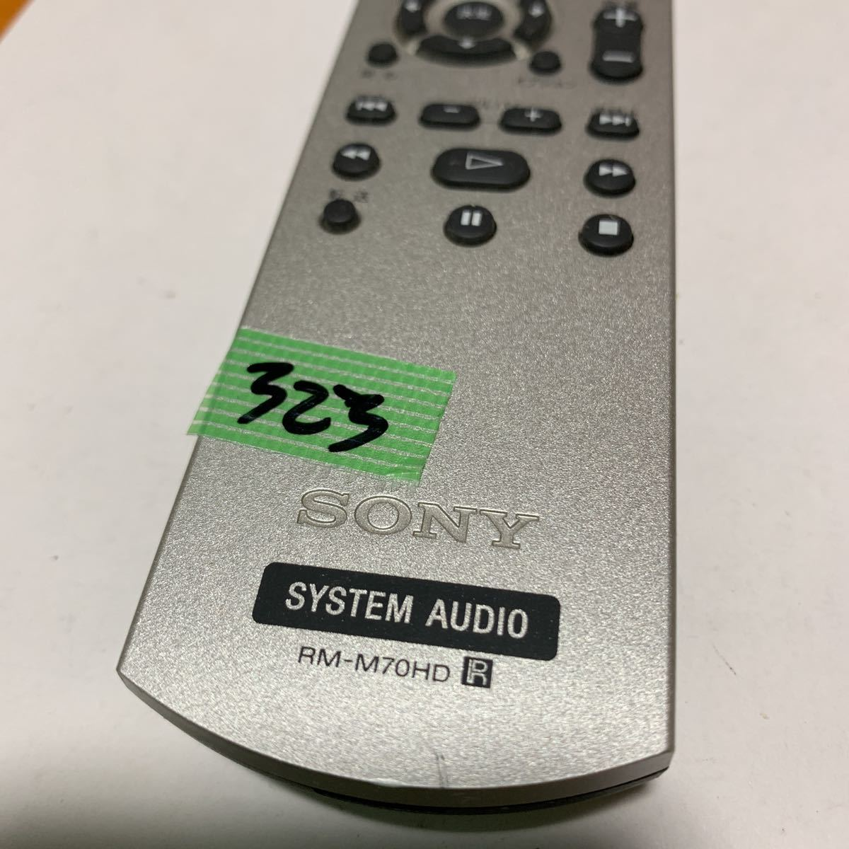 SONY SYSTEM AUDIO RM-M70HD リモコン中古動作品_画像2