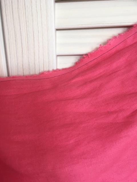 ラスト1点!気づいた人はラッキー☆高級リネン100% ピンク! 130幅×長さ2m! 麻 生地_画像2