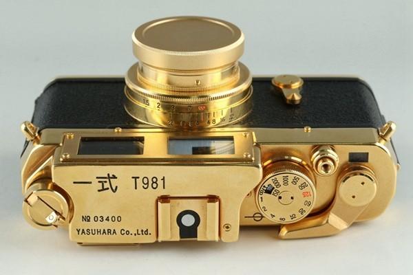 Yasuhara Issiki 安原一式 T981 35mm Rangefinder Film Camera Gold Model #22048_画像10