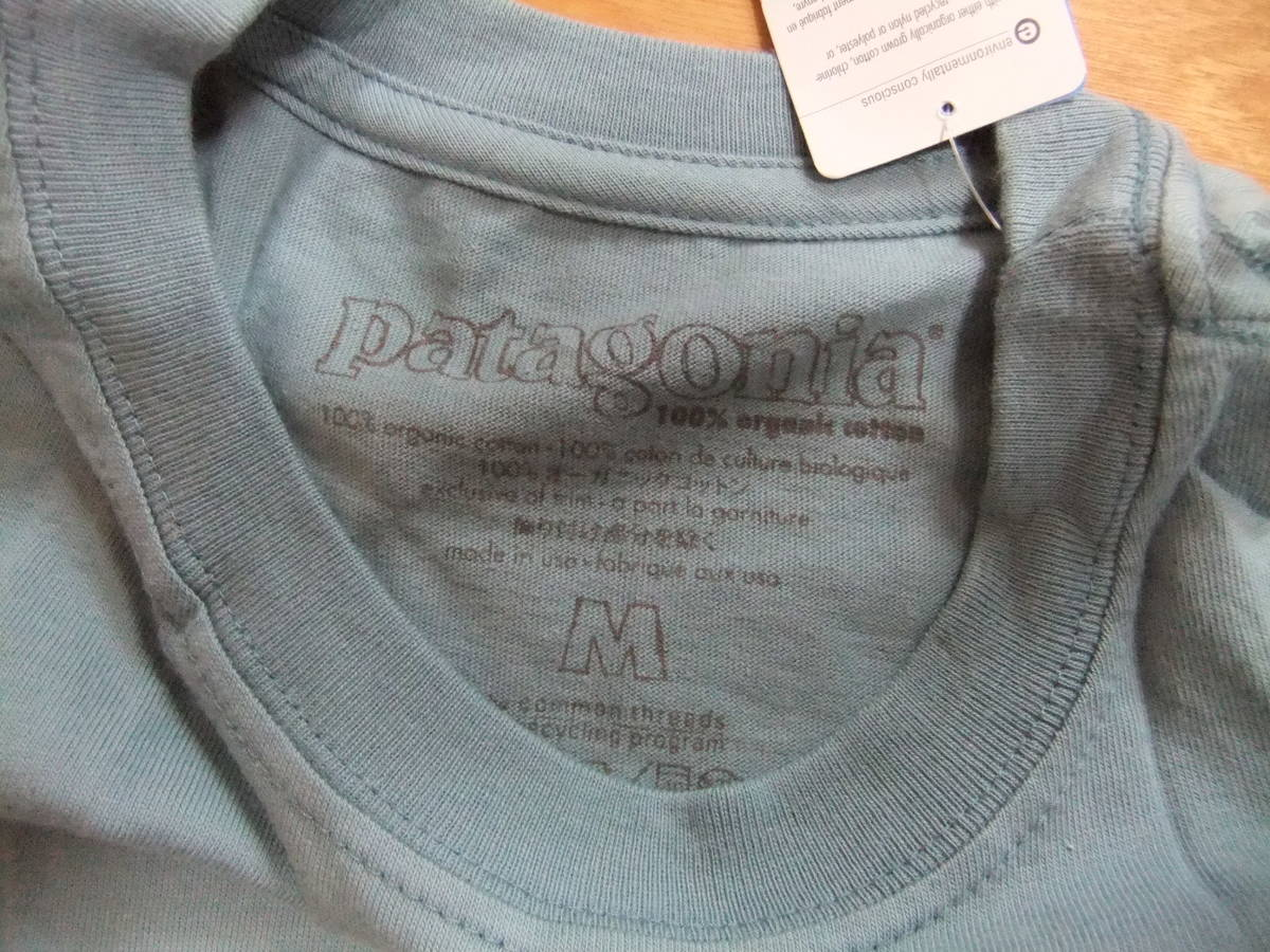 【USA製】patagonia Tシャツ P-6 LOGO T-SHIRT GUL Mサイズ パタゴニア 新品タグ付き MADE IN USA 米国製 国内正規品 希少・入手困難_画像4