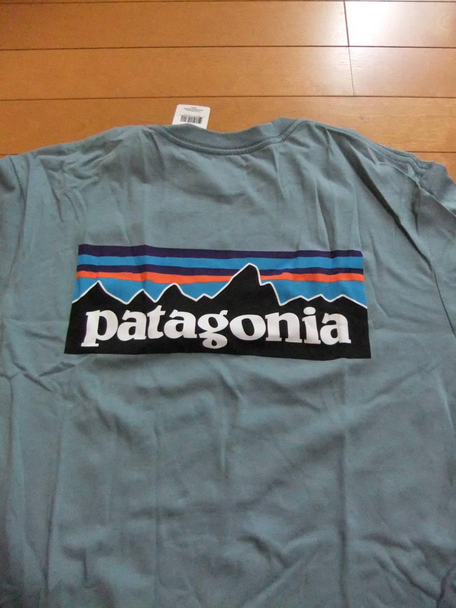 【USA製】patagonia Tシャツ P-6 LOGO T-SHIRT GUL Mサイズ パタゴニア 新品タグ付き MADE IN USA 米国製 国内正規品 希少・入手困難_画像2
