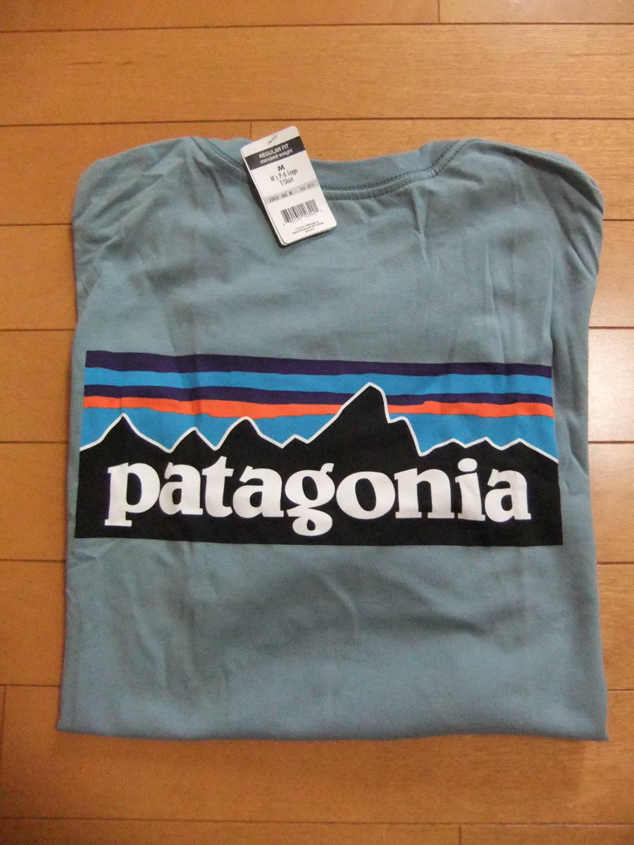 【USA製】patagonia Tシャツ P-6 LOGO T-SHIRT GUL Mサイズ パタゴニア 新品タグ付き MADE IN USA 米国製 国内正規品 希少・入手困難_画像5