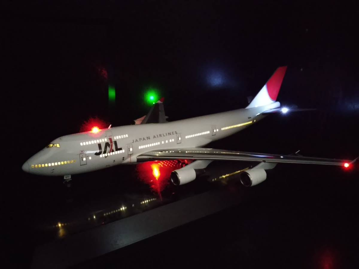 1/200 JAL B747-400 with LED and SOUND ハセガワ製 完成品_画像2
