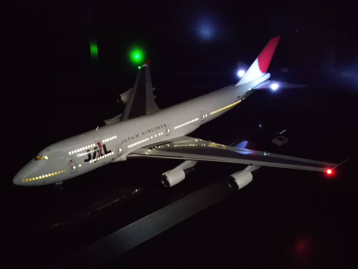 1/200 JAL B747-400 with LED and SOUND ハセガワ製 完成品_画像4