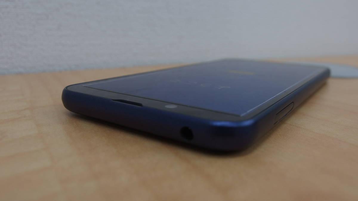 SoftBank andoroid one S5 SHARP ダークブルー ソフトバンク 本体 おまけイヤホン付 #1254_画像4