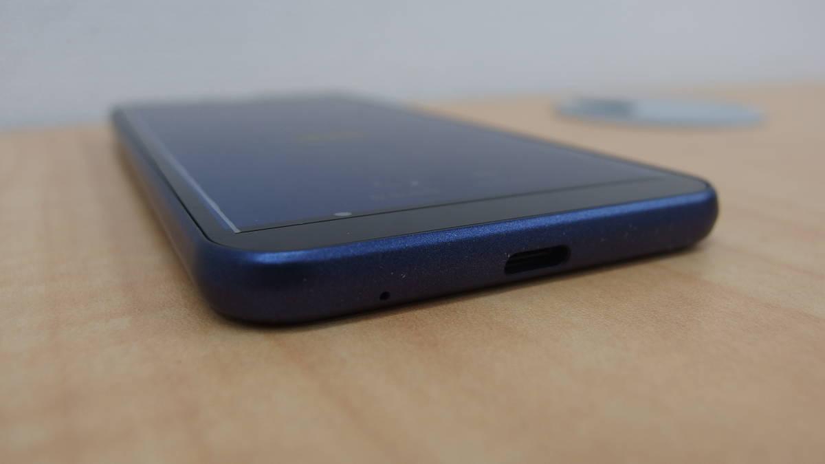 SoftBank andoroid one S5 SHARP ダークブルー ソフトバンク 本体 おまけイヤホン付 #1254_画像5