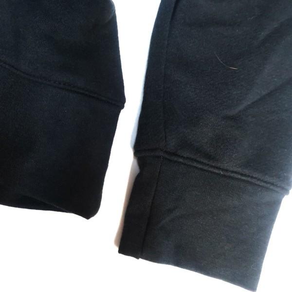 ストリートに決める! NIKE ナイキ ビッグシルエット スウェット トレーナー スウォッシュ ロゴ ブラック ホワイト 黒 白 XLサイズ メンズ_画像5