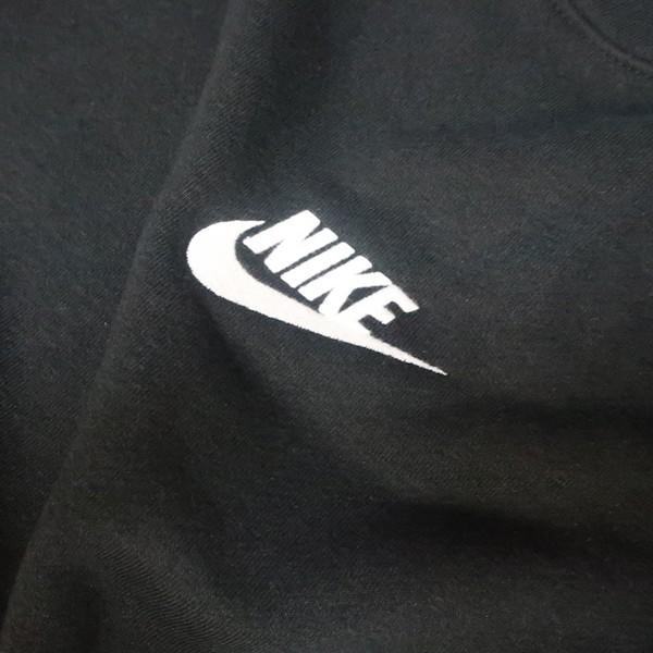 ストリートに決める! NIKE ナイキ ビッグシルエット スウェット トレーナー スウォッシュ ロゴ ブラック ホワイト 黒 白 XLサイズ メンズ_画像3