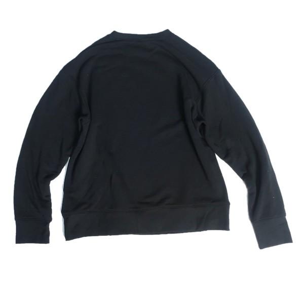ストリートに決める! NIKE ナイキ ビッグシルエット スウェット トレーナー スウォッシュ ロゴ ブラック ホワイト 黒 白 XLサイズ メンズ_画像4