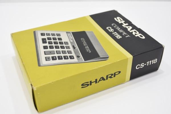 未使用 SHARP COMPET シャープ コンペット CS-1118 計算機 10桁蛍光表示管式卓上 レトロ 電卓 JUN-25-RY-16_画像10