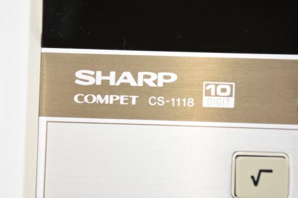 未使用 SHARP COMPET シャープ コンペット CS-1118 計算機 10桁蛍光表示管式卓上 レトロ 電卓 JUN-25-RY-16_画像6