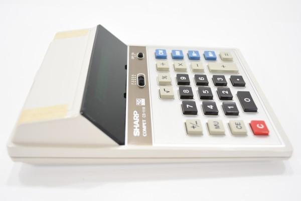 未使用 SHARP COMPET シャープ コンペット CS-1118 計算機 10桁蛍光表示管式卓上 レトロ 電卓 JUN-25-RY-16_画像5