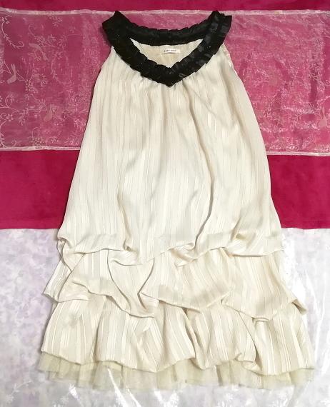 亜麻色ノースリーブチュニックドレス Flax color sleeveless tunic dress_画像1