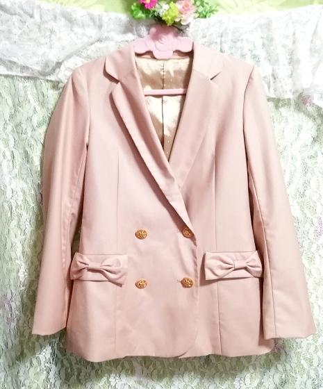 ピンクベージュジャケットコート羽織カーディガン Pink beige jacket coat haori cardigan_画像2